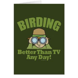 Observación de pájaros, Birding Tarjeta De Felicitación