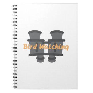 Observación de pájaros libro de apuntes
