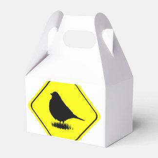 Observación de pájaros del amor de la señal de caja para regalos de fiestas