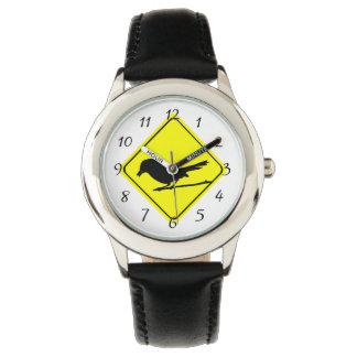 Observación de pájaros del amor de la señal de relojes de mano