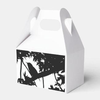 Observación de pájaros del amor de la silueta del cajas para regalos de boda