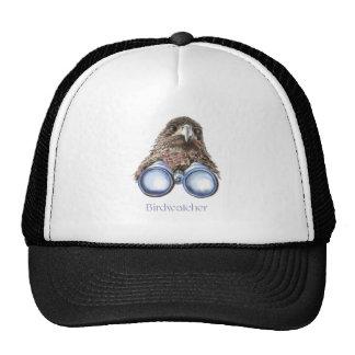 Observación de pájaros del halcón de Birdwatcher u Gorra
