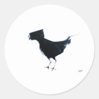 observación de pájaros etiquetas redondas