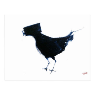 observación de pájaros tarjeta postal
