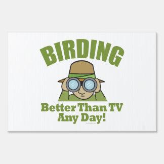 Observación de pájaros, vigilante de pájaro letreros