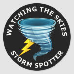 Observación del observador de tiro de la tormenta  etiqueta