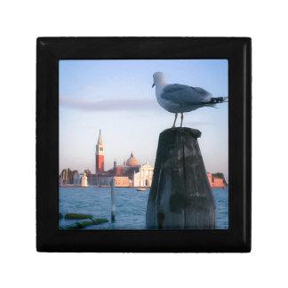 Observación para los gondalas en Venecia Joyero Cuadrado Pequeño