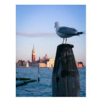 Observación para los gondalas en Venecia Tarjeta Postal