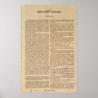 Observaciones al atlas general de Carey Póster