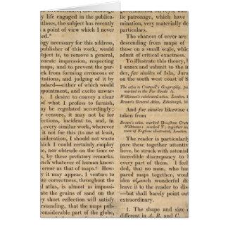 Observaciones al atlas general de Carey Tarjeta