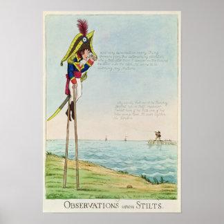 Observaciones sobre los zancos póster