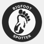 Observador de tiro de Bigfoot Etiqueta Redonda