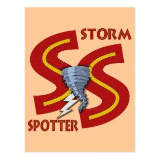 Observador de tiro de la tormenta tarjeta postal
