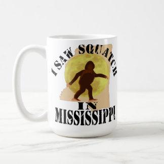 Observador de tiro de Mississippi Sasquatch Bigfoo Tazas De Café