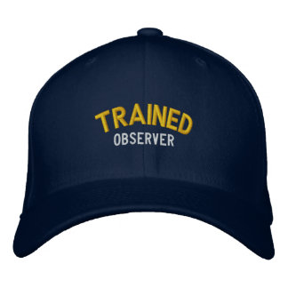 Observador entrenado gorro bordado