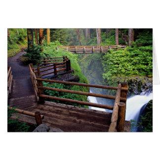 Observation deck and footbridge, Washington, U.S.A Greeting Card
