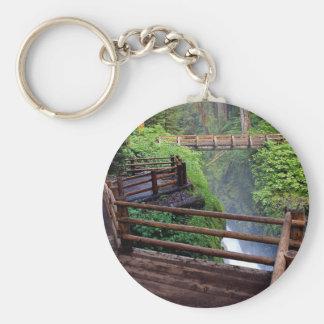 Observation deck and footbridge, Washington, U.S.A Keychains