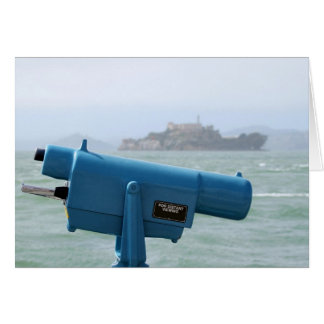 Observation Viewer Alcatraz Greeting Card
