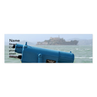 Observation Viewer Alcatraz Double-Sided Mini Business Cards (Pack Of 20)