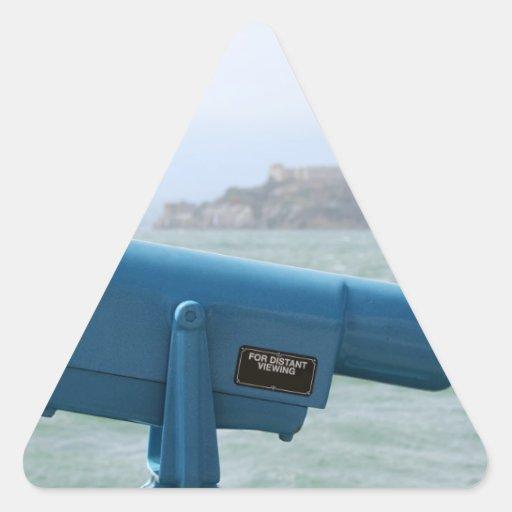 Observation Viewer Alcatraz Triangle Sticker