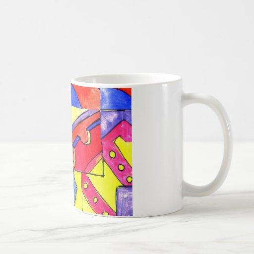 observational clockwork classic white coffee mug