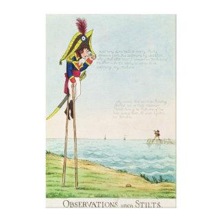 Observations Upon Stilts Canvas Print