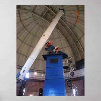 """Observatorio 40"""" de Yerkes refractor Póster"""