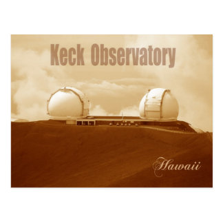 Observatorio astronómico de Keck, Mauna Kea, Hawai Tarjeta Postal