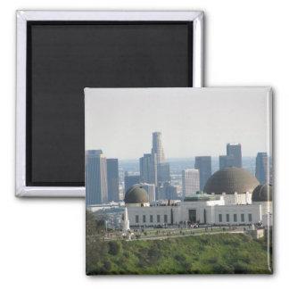 Observatorio de Griffith y Los Ángeles céntrico Imán Cuadrado