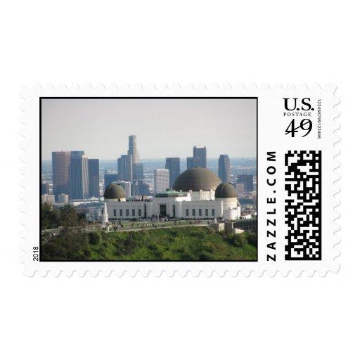 Observatorio de Griffith y Los Ángeles céntrico Sello Postal
