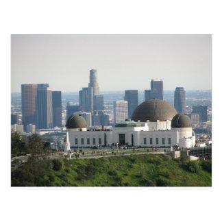 Observatorio de Griffith y Los Ángeles céntrico Tarjeta Postal