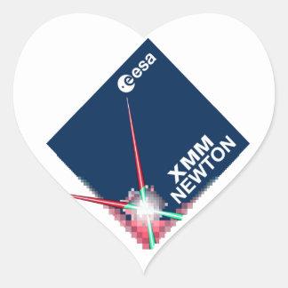 Observatorio de la radiografía de MMX-Newton Pegatina En Forma De Corazón