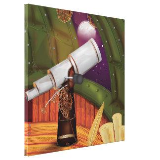 Observatorio del telescopio impresión en lienzo