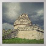 Observatorio maya del EL Caracol Póster