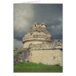 Observatorio maya del EL Caracol Tarjeta De Felicitación