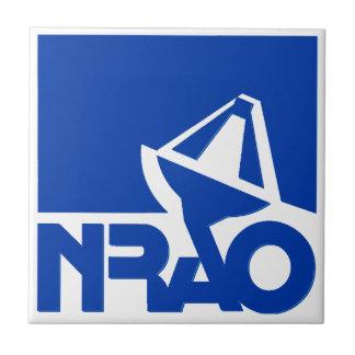 Observatorio nacional de la radioastronomía azulejo cuadrado pequeño