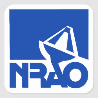 Observatorio nacional de la radioastronomía pegatina cuadrada