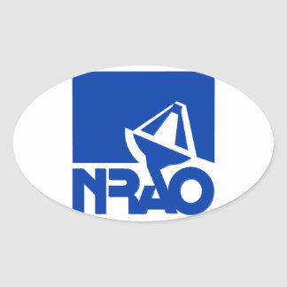 Observatorio nacional de la radioastronomía pegatina ovalada