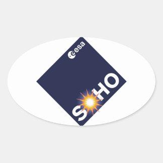 Observatorio solar y de Heliospheric SOHO Pegatinas De Ovaladas