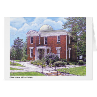 Observatory Albion College, full color notecard Cards