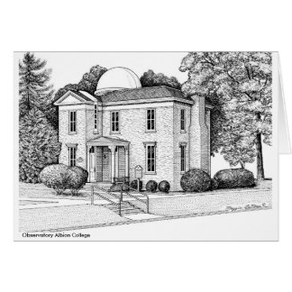 Observatory Albion College,  notecard Card