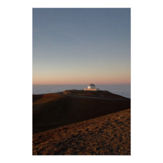 Observatory Atop Mauna Kea Poster