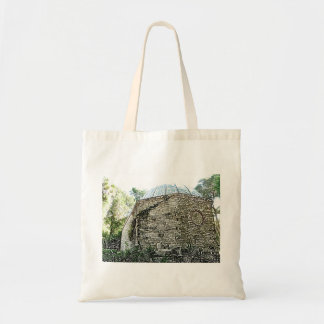 observatory building sketch st augustine canvas bags