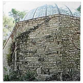 observatory building sketch st augustine cloth napkin