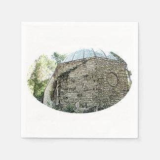 observatory building sketch st augustine paper napkin