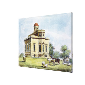 Observatory, Richmond Gardens, plate 14 from 'Kew Canvas Print