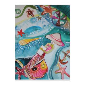 """Observe el arte original de Card~ de Allison P Invitación 5"""" X 7"""""""