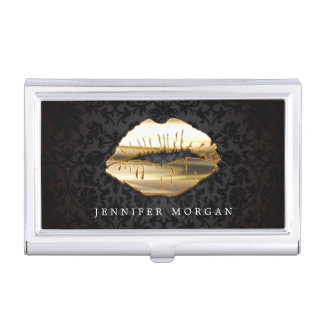 Observe el salón de oro de cogida del artista de caja de tarjetas de visita