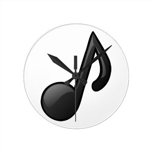 observe el símbolo de música relojes