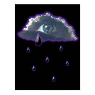observe en el cielo con los rasgones de la lluvia postales